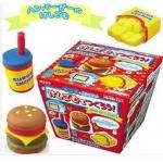 Kutsuwa eraser kit : ชุดทำยางลบ แฮมเบอร์เกอร์ (ใช้ไมโครเวฟ)  !!!ทานไม่ได้!!!