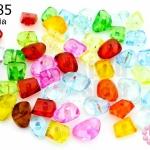 ลูกปัดพลาสติก คละสี 5มิล(1ขีด/1,130เม็ด)