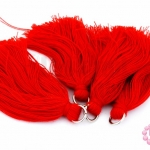 พู่ไหมประดิษฐ์ สีแดง 5ซม. (4ชิ้น)