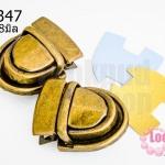 ตัวล๊อคกระเป๋า สีทองเหลือง 23X28มิล(2ชุด)