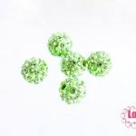 บอลเพชร เกรดดี 8 มิล สีเขียวตอง