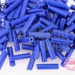 ลูกปัดจีนปล้องยาว สีน้ำเงิน 3X13มิล(5กรัม)