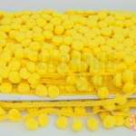 ปอมเส้นยาว สีเหลือง กว้าง 2ซม(1หลา/90ซม)