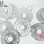 จี้โรเดียม เหรียญจีน 22x17 มิล (1ชิ้น)