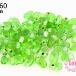 ลูกปัดแก้ว ทรงหยดน้ำ สีเขียวอ่อน 6x8มิล (1ขีด/196ชิ้น)
