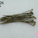 ตะปูหัวหมุด สีทองเหลือง 30มิล (10กรัม)