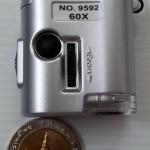 แบบ1-มหัศจรรย์กล้องไมโครสโคปจิ๋ว 60เท่า ขนาดพกพา + ไฟฉาย - Portable Microscope 60x + Flashlight