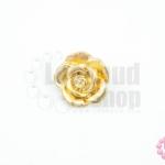 กระดุมโลหะ ดอกกุหลาบ สีทอง 18มิล(1ชิ้น)