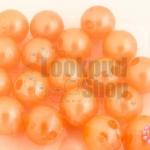 ลูกปัดมุก พลาสติก สีส้มพีช 10มิล (1ขีด/200ชิ้น)