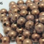 ลูกปัดมุก พลาสติก สีน้ำตาล 5มิล 1 ขีด (1,820ชิ้น)