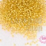 ลูกปัด Miyuki สีทองอ่อนสอดไส้สีทอง #1902 2มิล(10กรัม)