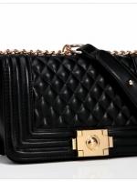 กระเป๋าแฟชั่น หนัง pu เกรด A แบรนด์ axixi ลายตารางเฉลียง สีดำ