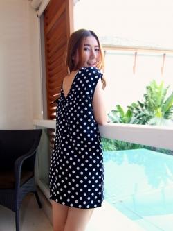 พร้อมส่ง ** Dotty Bowy mini dress