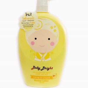 โลชั่นอาบน้ำ Baby bright caviar ginseng shower lotion 750ml