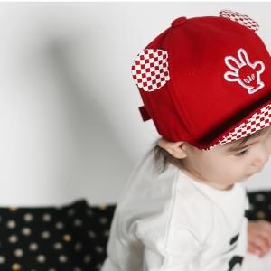 หมวกเด็ก สีส้ม สีแดง MC154