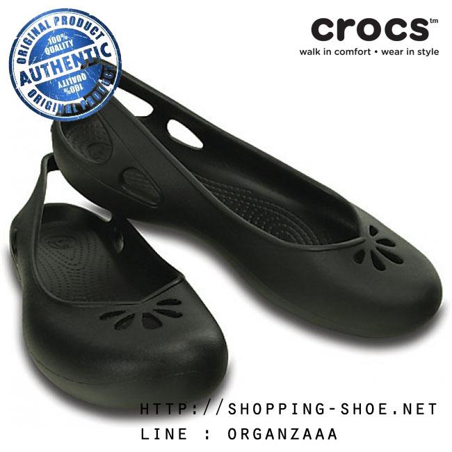 a0658c7420c W7 (24 cm.)   Crocs Taylor Slingback - Black ของแท้ Outlet ไทยและ ...