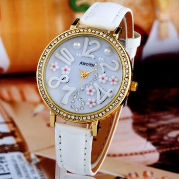 A014 Flower Clay Watch