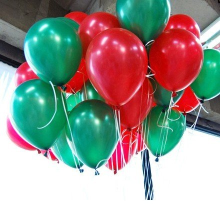 Image result for green and red balloons