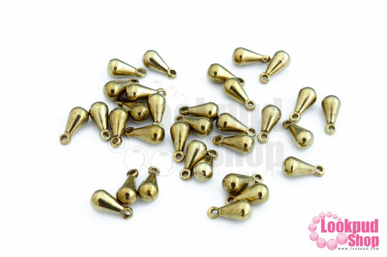 จี้ห้อยหยดน้ำ ทองเหลือง 4มิล (50กรัม)