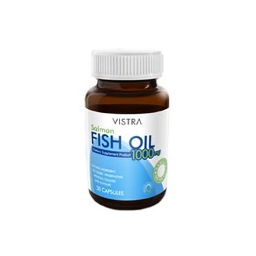 Vistra Salmon Fish Oil น้ำมันปลาแซลมอน 45 แคปซูล ช่วยเรื่องลดไขมันหลอดเลือด