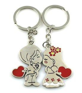 พวงกุญแจคู่รัก ลายตุ๊กตา