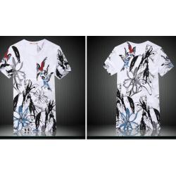 เสื้อยืด สลิม ใส่สบาย ลายนก Size No.36 ขาว