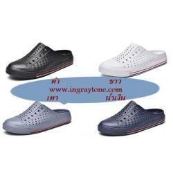 ใหม่4สี !รองเท้าลุยน้ำ outdoor รองเท้ายางส้นเปิด sneaker แบบผ้าใบหลากสี ผู้หญิง ผู้ชายแฟชั่น สีดำ น้ำเงิน เทา ขาว เบอร์ 36-44 สำเนา