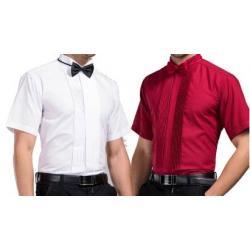 เสื้อเชิ้ตแขนยาว แขนสั้น ทักซิโด สีขาว แดง ดำ ชมพู No.37- 45