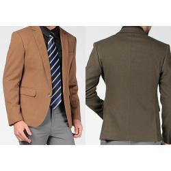 จองราคาพิเศษ!!เสื้อสูทผู้ชายมาตรฐาน ปกเปิดกระเป๋าฟลิบ Size No.35 37 39 41 42 เขียว น้ำตาล