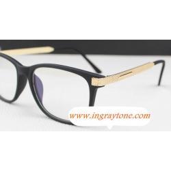 หลากสี!!กรอบแว่นตา แว่นสายตา แนวๆ แบบsuper Gold texture( สีดำ ดำด้าน กระ)