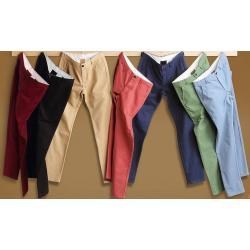 SALLEสุดๆ6สี ขายาว!! กางเกงสแล็คแฟชั่น สลิม แบบเรียบ กลัดกระดุม No.28-40 6สี