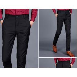 ึ5สี!!จองราคาพิเศษ เล็ก+ใหญ่ กางเกงทำงานคู่สูท สลิมฟิต สีดำ เอว No.28-38