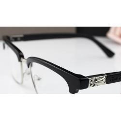 แว่นตากรอบบาง แฟชั่น เรโทร วินเทจ กึ่งโลหะ ครึ่งกรอบ สไตล์ chrome Billie (ดำด้าน )