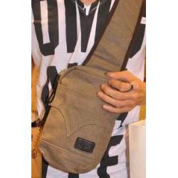 กระเป๋าสะพายข้าง size S แบบกระเป่ายีนส์ เนื้อผ้าใบ สีดำ น้ำตาล