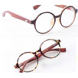 หลากสี!!กรอบแว่นสายตากลม ขาลายไม้ ทูโทน No.7 (ดำเงา ดำด้าน ชา กระ )