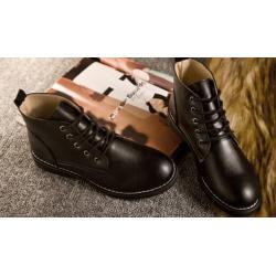 หลากสี+เล็กพิเศษ!!พรีออเดอร์ รองเท้าบููทหนัง หุ้มข้อ สไตล์อังกฤษ สีดำ เบอร์ 34-40 แบบเรียบส้นเตี้ย