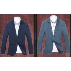 เสื้อสูทแฟชั่นชาย อังกฤษ สลิมฟิต ปกเปิดมาตรฐาน กระเป๋าสอด สีน้ำเงินเข้ม Size No.34 36