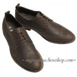 ราคาพิเศษสุด!! รองเท้าหนังคัทชู หุ้มส้นชาย สไตล์อังกฤษ สีน้ำตาล สีดำ วินเทจ ปรุออกฟอร์ด แต่งผิว Limited edition เบอร์40-41
