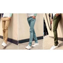 ดีไซน์พิเศษ กางเกงสแลคแฟชั่น เดฟ หลากสี XZ No.31-32 ฟ้าอมเขียว