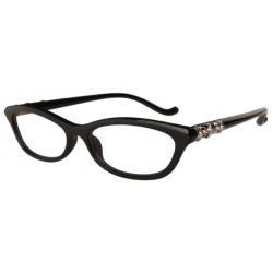 กรอบแว่นสายตาแฟชั่น สลิมแนวนอน แบบโครม chrome สีดำ