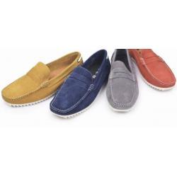 SALEคุ้มสุดๆรองเท้า loaferเล็ก หนังกลับ แบบเข็มขัด พื้นขาวC18 No.35 36-37 ครีม น้ำเงิน น้ำเงินขน เทา แดง เหลือง