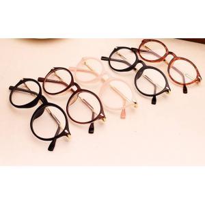โปรจองราคาพิเศษ!!แว่นตาแฟชั่นเรโทร วินเทจ ทองเก่า กลม ขาทอง ( ดำ น้ำตาล กระ ดำด้าน ชมพู)