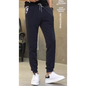 3สี+ใหญ่!!กางเกงผ้าฝ้ายขายาวขาจั๊ม เอวจั๊ม รูด แฟชั่น สี น้ำเงิน ดำ เทาอ่อน size28-38