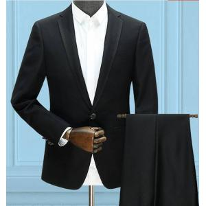 ดำ ดำเงา+จองราคาพิเศษ!! ชุดเสื้อสูท กางเกงสไตล์อังกฤษ มาตรฐาน กระดุม 2เม็ด แบบ1สีดำขอบปก แบบ2ดำเงา Size No.39-41-42-43-45