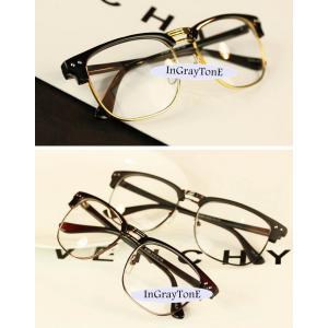 แว่นตากรอบบาง แฟชั่น ครึ่งกรอบ เรโทร วินเทจ แบบกึ่งโลหะ (ดำเงาทอง ดำเงาเงิน ดำด้าน ลายกระ)
