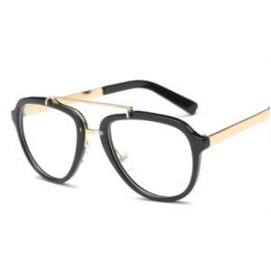 แว่นตาวินเทจ แฟชั่น avi แบบสลิมสันและขาทอง สี ดำเงา ชา
