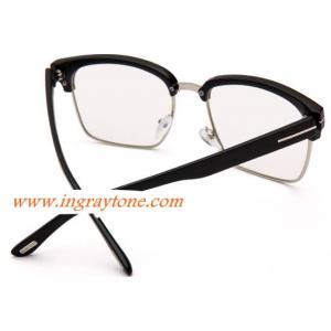 กรอบแว่นตาแฟชั่น ครึ่งกรอบ เหลี่ยม แนวๆเรโทร วินเทจ tomf ( ดำเงา)