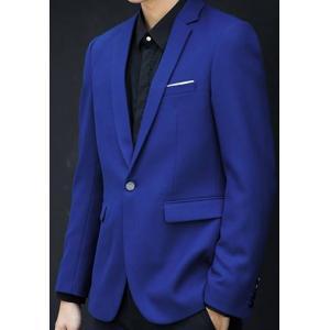 เสื้อสูท แฟชั่นชาย เข้ารูป คลิบอกขาว สีฟ้าเข้ม Size No.37 39 41