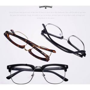 chrome ใหญ่พิเศษ!!กรอบแว่นตาแฟชั่น เรโทร วินเทจ แบบกึ่งโลหะ ครึ่งกรอบโครม chrome h (ลายกระ ดำ ดำด้าน)