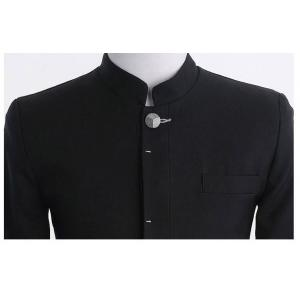 Limitedเล็กใหญ่!เสื้อสูทตัวเล็ก คอจีน กระดุมเงิน สไตล์ น.ร. ญี่ปุ่น Size No.34 36 38 40 42 44 ดำ